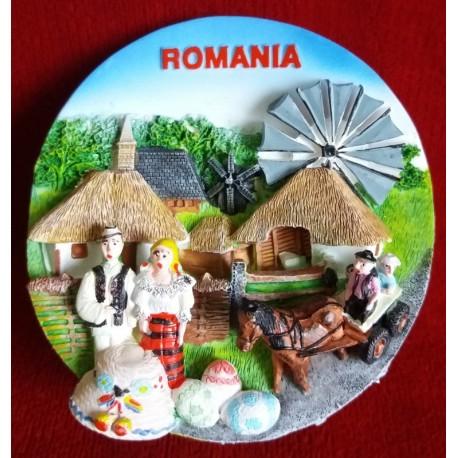 SC 064 Magnet sat traditional Romania